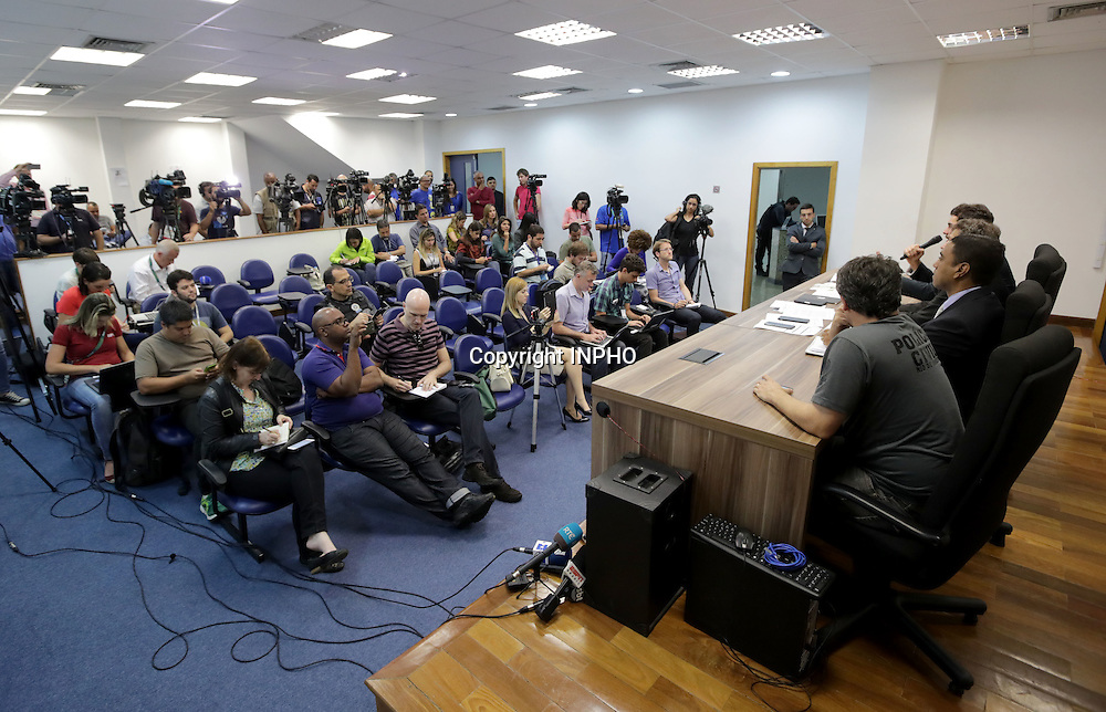 Rio 2016 Olympic Games Day 12, Rio de Janeiro, Brazil 17/8/2016<br /> A view from today's Police press conference following the arrest of Olympic Council of Ireland President Pat Hickey's<br /> Mandatory Credit &copy;INPHO/Morgan Treacy