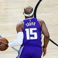 08 October 2017: Sacramento Kings guard Vince Carter (15) drives during the LA Lakers 75-69 victory over the Sacramento Kings, at the T-Mobile Arena, Las Vegas, Nevada, USA.