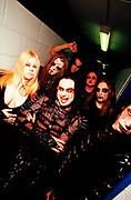 "Nu Metal ""Cradle Of Filth"" fans wearing make-up and black leather, UK, 2000s."