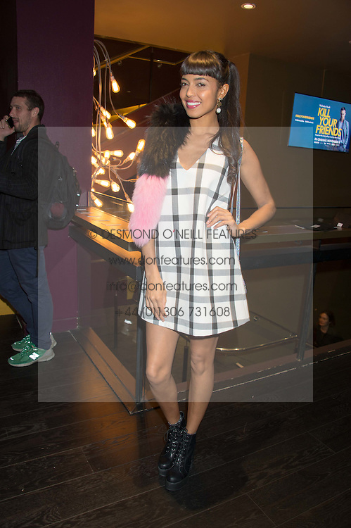 INVADER GIRL at the Al Films and Warner Music Screening of Kill Your Friends held at the Curzon Soho Cinema, 99 Shaftesbury Avenue, London on 27th October 2015.