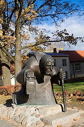"""Over the Centuries"" sculpture near St. John's Church, Cesis, Latvia"