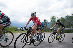 \cammo of Veloconcept Cycling Team rides  the day's main climb of Stage 2 of the Giro Rosa - a 122.2 km road race, between Zoppola and Montereale Valcellina on July 1, 2017, in Pordenone, Italy. (Photo by Balint Hamvas/Velofocus.com)