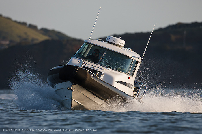 The new Protector 30' on San Francisco Bay. (credit must read - Abner Kingman/Protector Boats)