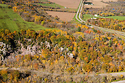 Aerial view of Abelman's Gorge (below), near Rock Springs, Wisconsin, in Sauk County's Baraboo Hills.