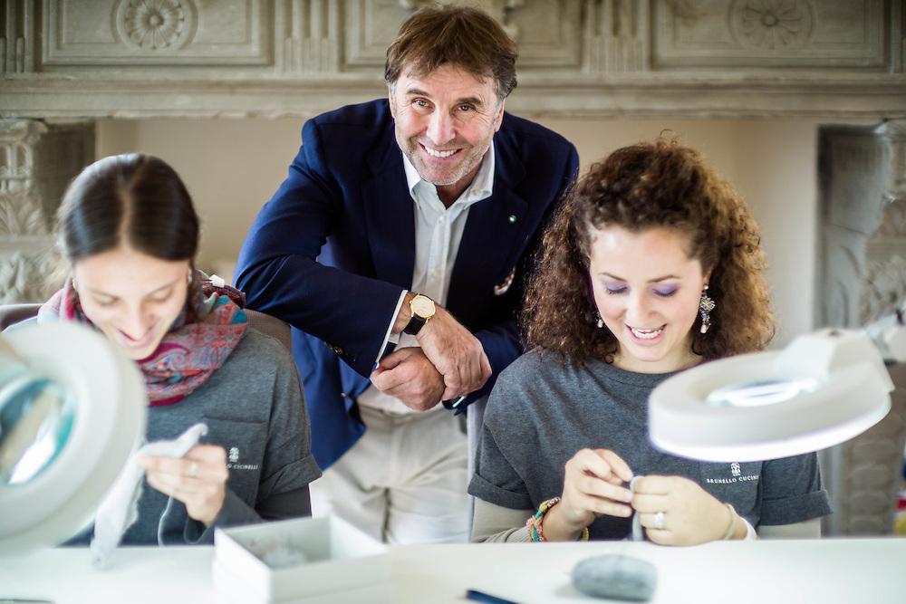16 OTT 2013 - Solomeo (Perugia) - La Scuola di Rammendo di Brunello Cucinelli