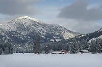 Methow valley farm in winter, Mazama Washington