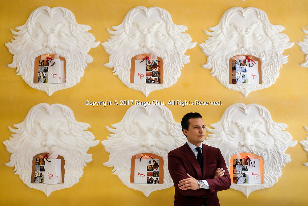 Nicolas Bijan, 25, partial owner of legendary Bijan store his father started.(Photo by Ringo Chiu)<br /> <br /> Usage Notes: This content is intended for editorial use only. For other uses, additional clearances may be required.