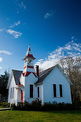 Exterior of Oysterville Church, Oysterville, Washington, US