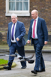 © Licensed to London News Pictures. 29/03/2017. London, UK. Conservative Party Chairman PATRICK MCLOUGHLIN and Transport Secretary CHRIS GRAYLING attend a cabinet meeting in Downing Street, London on Wednesday, 29 March 2017 as Prime Minister Theresa May triggers article 50 and starts Britain's departure from the European Union. Photo credit: Tolga Akmen/LNP