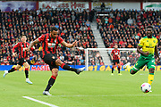 Callum Wilson (13) of AFC Bournemouth shoots at goal during the Premier League match between Bournemouth and Norwich City at the Vitality Stadium, Bournemouth, England on 19 October 2019.