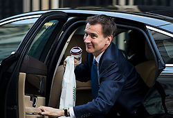 © Licensed to London News Pictures. 23/02/2016. London, UK. Secretary of Health JEREMY HUNT arrives at number 10 Downing Street in Westminster, London for cabinet meeting. Photo credit: Ben Cawthra/LNP