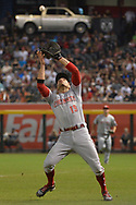 PHOENIX, AZ - JULY 08:  Joey Votto #19 of the Cincinnati Reds catches a foul ball during the seventh inning of the MLB game against the Arizona Diamondbacks at Chase Field on July 8, 2017 in Phoenix, Arizona.  (Photo by Jennifer Stewart/Getty Images)