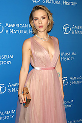 Scarlett Johansson attends the American Museum of Natural History's 2018 Gala at the American Museum of Natural History in New York.