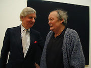 Sir Alan Bowness and  artist Bob Law. Whitechapel art Gallery. Centenary exhibition. private view. © Copyright Photograph by Dafydd Jones 66 Stockwell Park Rd. London SW9 0DA Tel 020 7733 0108 www.dafjones.com