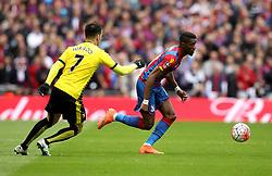 Wilfried Zaha of Crystal Palace takes on Jose Manuel Jurado of Watford - Mandatory by-line: Robbie Stephenson/JMP - 24/04/2016 - FOOTBALL - Wembley Stadium - London, England - Crystal Palace v Watford - The Emirates FA Cup Semi-Final