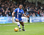 Gillingham defender Ryan Jackson on the attack during the Sky Bet League 1 match between Gillingham and Peterborough United at the MEMS Priestfield Stadium, Gillingham, England on 23 January 2016. Photo by David Charbit.