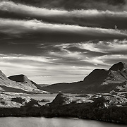 Moonrise over Cul Beag, Assynt