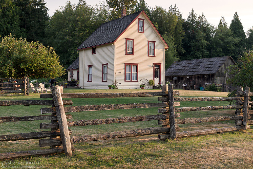 The farmhouse on the Annand/Rowlatt farmstead was built in 1888.  Joseph and Sarah Anne Annand sold the farm in 1905, and Len Rowlatt first leased, then purchased the property and lived there for almost 60 years. The Annand/Rowlatt farmhouse is one of the oldest existing houses in the Township of Langley.  The farmhouse and surrounding buildings are now part of Campbell Valley Regional Park in Langley, British Columbia, Canada.