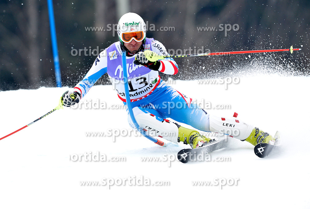 17.02.2013, Planai, Schladming, AUT, FIS Weltmeisterschaften Ski Alpin, Slalom, Herren, 1. Durchgang, im Bild Manfred Pranger (AUT) // Manfred Pranger of Austria in action during 1st run of the mensSlalom at the FIS Ski World Championships 2013 at the Planai Course, Schladming, Austria on 2013/02/17. EXPA Pictures © 2012, PhotoCredit: EXPA/ sportbild. se/ Nisse Schmidt ***** ATTENTION - OUT OF SWE *****