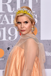 February 20, 2019 - London, United Kingdom of Great Britain and Northern Ireland - Paloma Faith arriving at The BRIT Awards 2019 at The O2 Arena on February 20, 2019 in London, England  (Credit Image: © Famous/Ace Pictures via ZUMA Press)