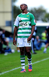 Yeovil Town's Lewis Young is disappointed at the teams performance after losing the game 1-0 - Photo mandatory by-line: Dougie Allward/Josephmeredith.com  - Tel: Mobile:07966 386802 08/09/2012 - SPORT - FOOTBALL - League 1 -  Yeovil  - Huish Park -  Yeovil Town v AFC Bournemouth