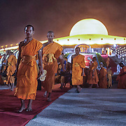at Wat Dhammakaya on the outskirts of Bangkok, Thailand.  Photo by David Longstreath