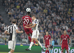 September 27, 2017 - Turin, Italy - Emmanuel Emenike during Champions League match between Juventus and Olympiakos Pirus, in Turin, on September 27, 2017  (Credit Image: © Loris Roselli/NurPhoto via ZUMA Press)