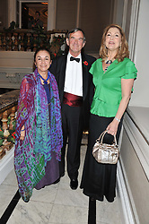 Left to right, CARLOTTA WIGGLESWORTH, JAMES COCHRANE Chairman of the British Red Cross and MARIA SHAMMAS Chairman of the British Red Cross International Fundraising Committee at Brazil Now a gala ball in aid of the Red Cross held at the Grand Connaught Rooms, 61-65 Queen Street, London on 6th November 2012.