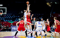 Georgios Papagiannis of Greece vs Timofey Mozgov of Russia during basketball match between National Teams of Greece and Russia at Day 14 in Round of 16 of the FIBA EuroBasket 2017 at Sinan Erdem Dome in Istanbul, Turkey on September 13, 2017. Photo by Vid Ponikvar / Sportida