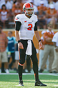 AUSTIN, TX - SEPTEMBER 26:  Mason Rudolph #2 of the Oklahoma State Cowboys takes the field against the Texas Longhorns on September 26, 2015 at Darrell K Royal-Texas Memorial Stadium in Austin, Texas.  (Photo by Cooper Neill/Getty Images) *** Local Caption *** Mason Rudolph