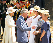 Camilla Duchess of Cornwall, Prince Charles and Princess Astrid and Countess Stephanie de Lannoy / P