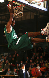 Ronell Taylor of Union Olimpija during the final match of Spar Cup 2007-08 between Union Olimpija, Ljubljana, Slovenia, and Helios Domzale, Slovenia, on February 10, 2008, in Arena Kodeljevo, Ljubljana, Slovenia. Match and Cup was won by Union Olimpija, who defeated Helios Domzale in final match with 85:66. (Photo by Vid Ponikvar / Sportal Images).
