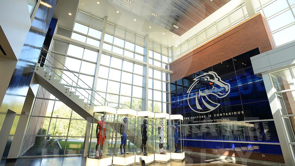 Football Center, weight room, lounge locker room, John Kelly photo
