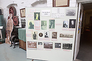 The Long Shop museum, Leiston, Suffolk, England, UK The Garretts family information board
