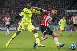 November 28, 2018 - Eindhoven, Netherlands - Ousmane Dembele of Barcelona in action during the UEFA Champions League Group B match between PSV Eindhoven and FC Barcelona at Philips Stadium in Eindhoven, Netherlands on November 28, 2018  (Credit Image: © Andrew Surma/NurPhoto via ZUMA Press)
