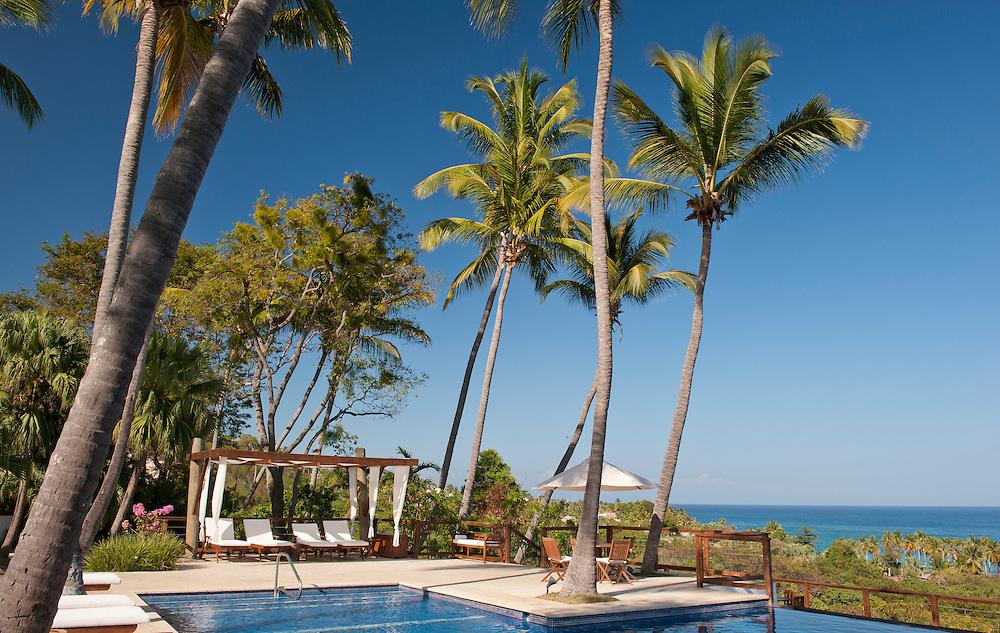Swimming Pool,, Hotel Casa Bonita,Bahoruco,Barahona, Dominican Republic,Caribbean..