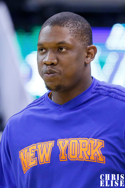 09 December 2015: New York Knicks center Kevin Seraphin (1) warms up prior to the Utah Jazz 106-85 victory over the New York Knicks, at the Vivint Smart Home Arena, Salt Lake City, Utah, USA.