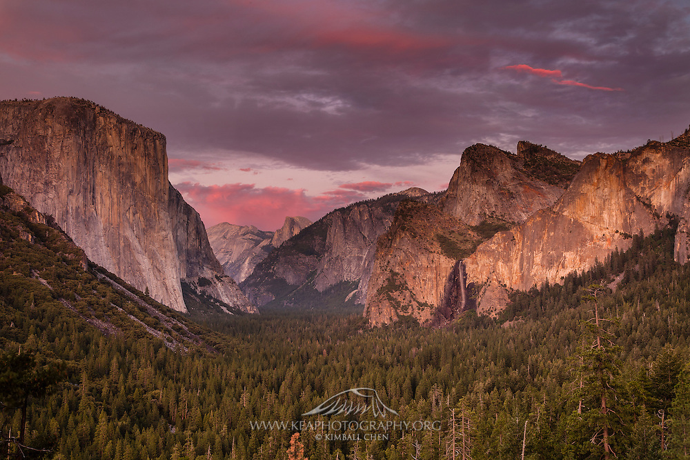 Another beautiful sunset over Yosemite Valley