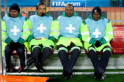 First aid during the 2010 FIFA World Cup South Africa Group G match between Brazil and North Korea at Ellis Park Stadium on June 15, 2010 in Johannesburg, South Africa. Brazil defeated Korea 2-1. (Photo by Vid Ponikvar / Sportida)