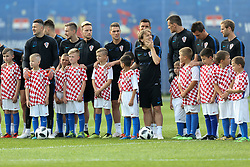 June 11, 2018 - Roschino, Russia - Players of the Croatia national football team takes part in a training session at Roschino Arena in Roschino, Russia, on June 11, 2018, ahead of the Russia 2018 World Cup. (Credit Image: © Igor Russak/NurPhoto via ZUMA Press)