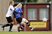 Fotball<br /> Norge<br /> 04.05.2011<br /> Foto: Morten Olsen, Digitalsport<br /> <br /> Trening Norge A kvinner<br /> Nadderud Stadion<br /> Internkamp - Norge Blå mot Norge Hvit<br /> <br /> Cecilie Pedersen (B)<br /> Trine Rønning (W)