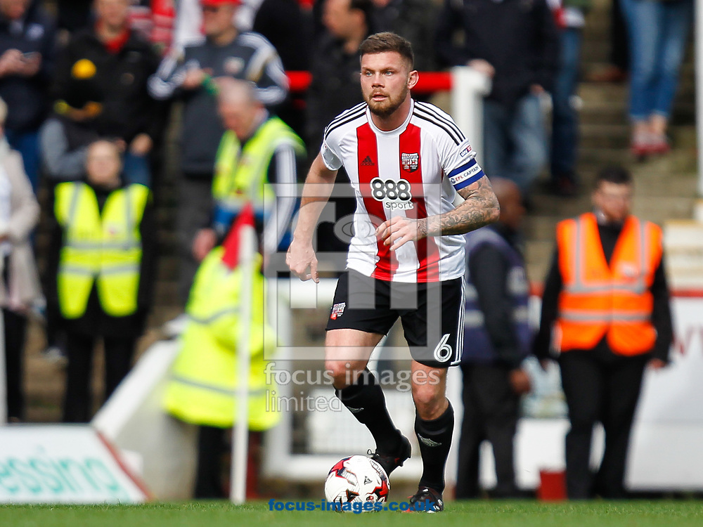 Harlee Dean of Brentford during the Sky Bet Championship match between Brentford and Bristol City at Griffin Park, London<br /> Picture by Mark D Fuller/Focus Images Ltd +44 7774 216216<br /> 01/04/2017
