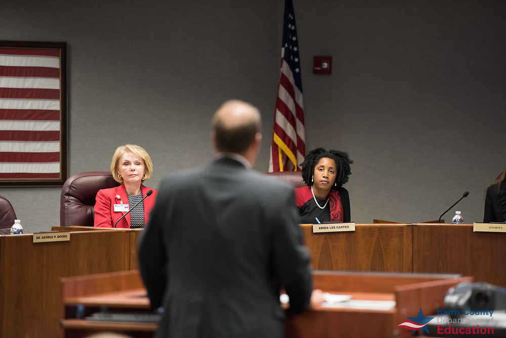 Harris County Department of Education Board of Trustees meeting, September 20, 2017.