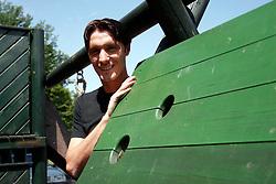 Portrait of Slovenian football player Miran Pavlin, on June 15, 2005, gostilna Kaval, Brod, Ljubljana, Slovenia.  (Photo by Vid Ponikvar / Sportida)