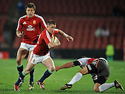 Wing of the British & Irish Lions, Shane Williams slips through a gap against the Xerox Lions in Johannesburg.<br /> Rugby - 090602 - British&Irish Lions v Xerox Lions - Coca-Cola Park - Johannesburg - South Africa.<br /> Photographer : Anton de Villiers / SASPA