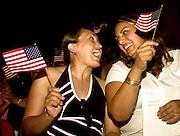 New citizens celebrate.