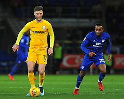 Loic Damour of Cardiff City chases down Paul Gallagher of Preston North End- Mandatory by-line: Nizaam Jones/JMP - 29/12/2017 -  FOOTBALL - Cardiff City Stadium - Cardiff, Wales -  Cardiff City v Preston North End - Sky Bet Championship