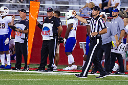 NORMAL, IL - September 07: Jared Flech during a college football game between the ISU (Illinois State University) Redbirds and the Morehead State Eagles on September 07 2019 at Hancock Stadium in Normal, IL. (Photo by Alan Look)