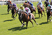 FIRST ELEVEN (5) ridden by Frankie Dettori and trained by John Gosden winning the Sky Bet Race to the Ebor Jorvik Stakes over 1m 4f (£50,000) at York during the first day of the Dante Festival at York Racecourse, York, United Kingdom on 15 May 2019.