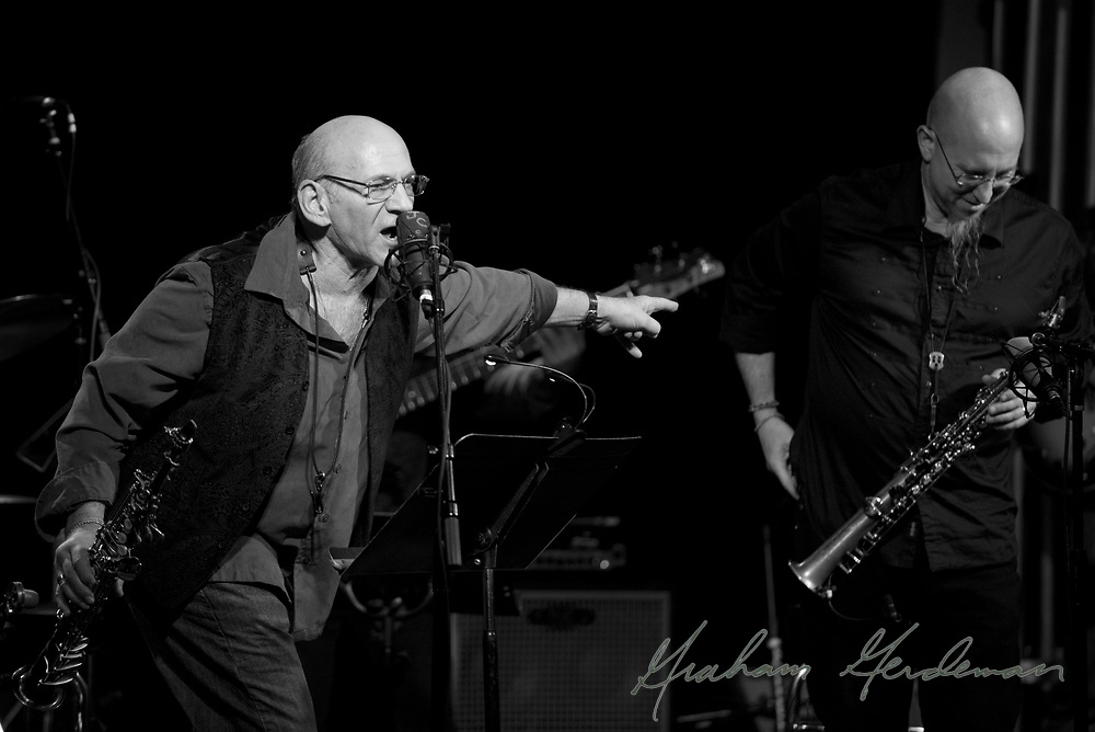 "Legendary saxophonists David Liebman introduces the great Jeff Coffin at their performance of music from Miles Davis's ""On the Corner"" sessions, on which Liebman originally appeared as a member of Davis's band."